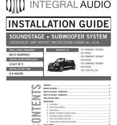 installation guide integral audio mini cooper amplfier speaker wiring harness r55 r56 r57 [ 791 x 1024 Pixel ]