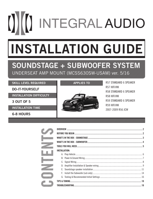 small resolution of installation guide integral audio mini cooper amplfier speaker wiring harness r55 r56 r57