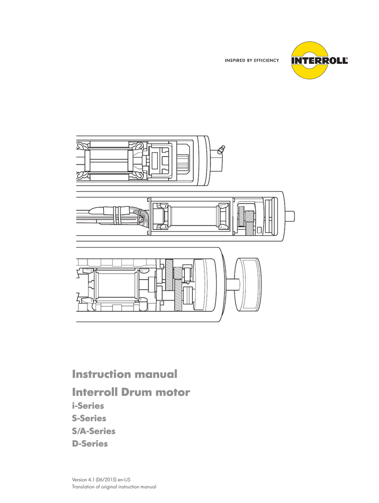 Instruction manual Interroll Drum motor