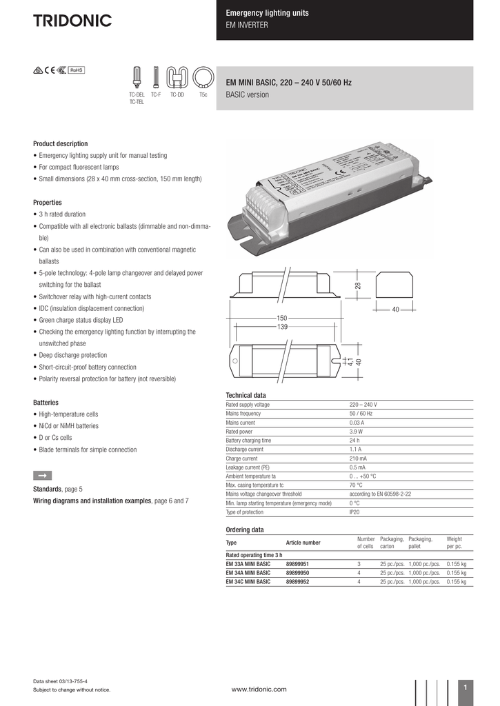 Tridonic Ballast Wiring Diagram Tridonic Atco Ballast
