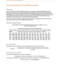 technical brief circuit calculations for the s280 microinverter overview use this document as a reference guide to properly size conductors for enphase s280  [ 791 x 1024 Pixel ]