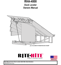 rha 4000 dock leveler owners manual part of the smooth transition dok systemtm made in u s a this manual covers dock levelers built after serial numbers  [ 791 x 1024 Pixel ]