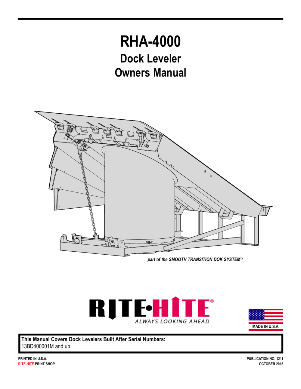 medium resolution of rha 4000 dock leveler owners manual part of the smooth transition dok systemtm made in u s a this manual covers dock levelers built after serial numbers