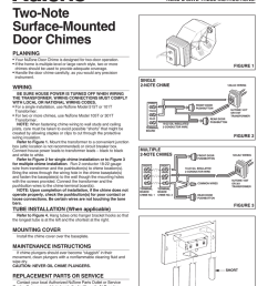 installation instructions read save these instructions two note surface mounted door chimes planning your nutone door chime is designed for two door  [ 791 x 1024 Pixel ]