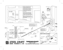 LKM7003 Lock Installation Instructions