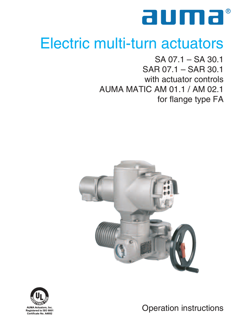 hight resolution of multi turn actuators sa 07 1 sa 30 1 sar 07 1