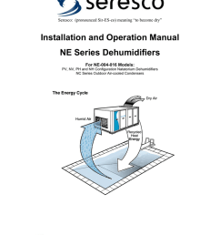 seresco pronounced sir es co meaning to become dry installation and operation manual ne series dehumidifiers for ne 004 016 models pv nv  [ 791 x 1024 Pixel ]