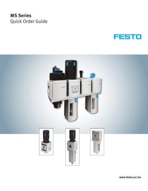 small resolution of ms series quick order guide www festo us ms your objective perfect compressed air preparation our solution freely combinable function modules we make your