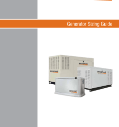 generator sizing guide important notice this booklet is designed to familiarize estimators and installers with proper sizing guidelines for residential and  [ 791 x 1024 Pixel ]