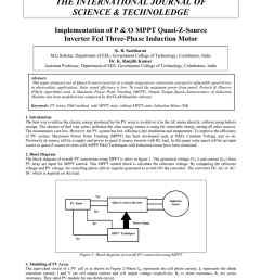 919x www theijst com the international journal of science technoledge implementation of p o mppt quasi z source inverter fed three phase induction  [ 791 x 1024 Pixel ]