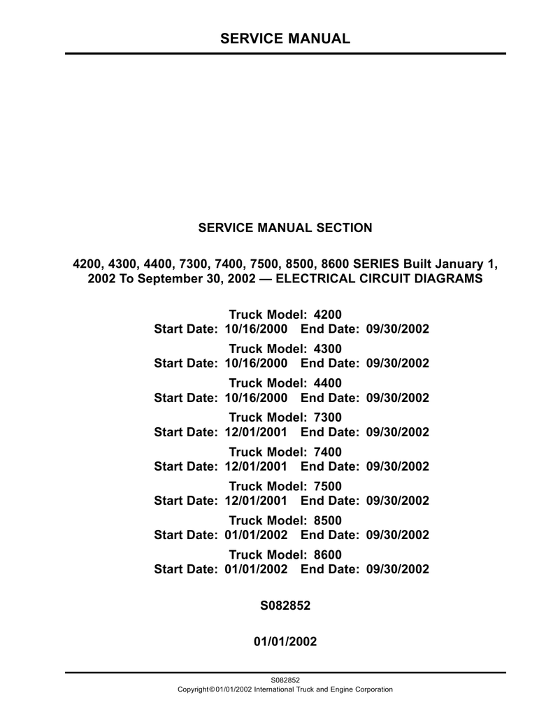 hight resolution of service manual navistar body builder 2002 international dt466