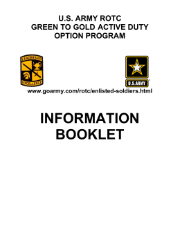THE ARMY RESERVE OFFICERS' TRAINING CORPS (ROTC)