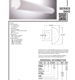 steel shapes direct indirect series s643 options mounting options s surface mount w wall mount lamp options t5 5 8 diameter t5ho 5 8 diameter  [ 791 x 1024 Pixel ]