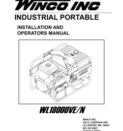 industrial portable installation and operators manual wl18000ve n winco inc 225 s cordova ave le center mn 56057 507 357 6821 service dept  [ 791 x 1024 Pixel ]