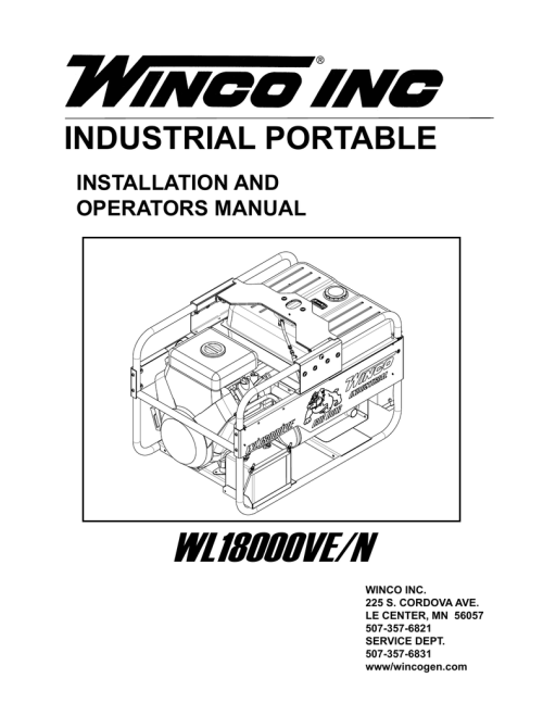 small resolution of industrial portable installation and operators manual wl18000ve n winco inc 225 s cordova ave le center mn 56057 507 357 6821 service dept