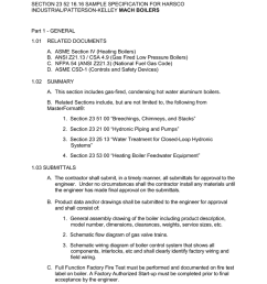 section 23 52 16 16 sample specification for harsco industrial patterson kelley mach boilers part 1 general 1 01 related documents a b c d 1 02 asme  [ 791 x 1024 Pixel ]