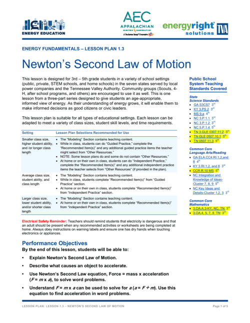 small resolution of Newton`s Second Law of Motion