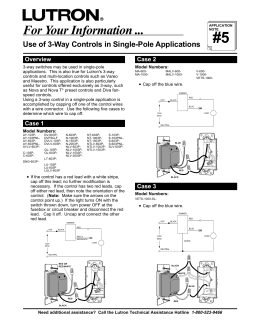 Use of 3-Way Controls in Single-Pole Applications