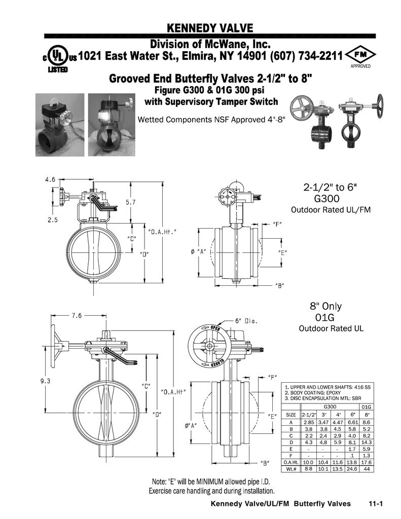 Kennedy Valve/UL/FM Butterfly Valves 11-1
