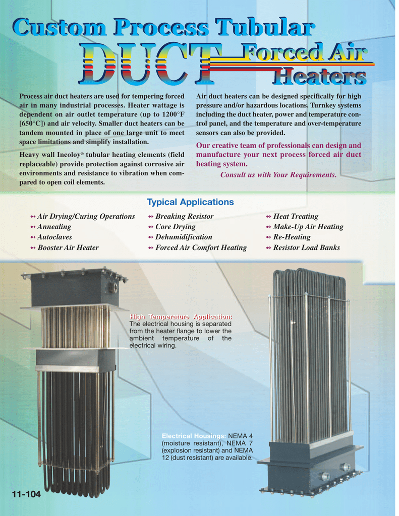 medium resolution of  duct heaters tempco electric heater corporation on electric hot water diagram electric heater exhaust temco kanthal a1 wire