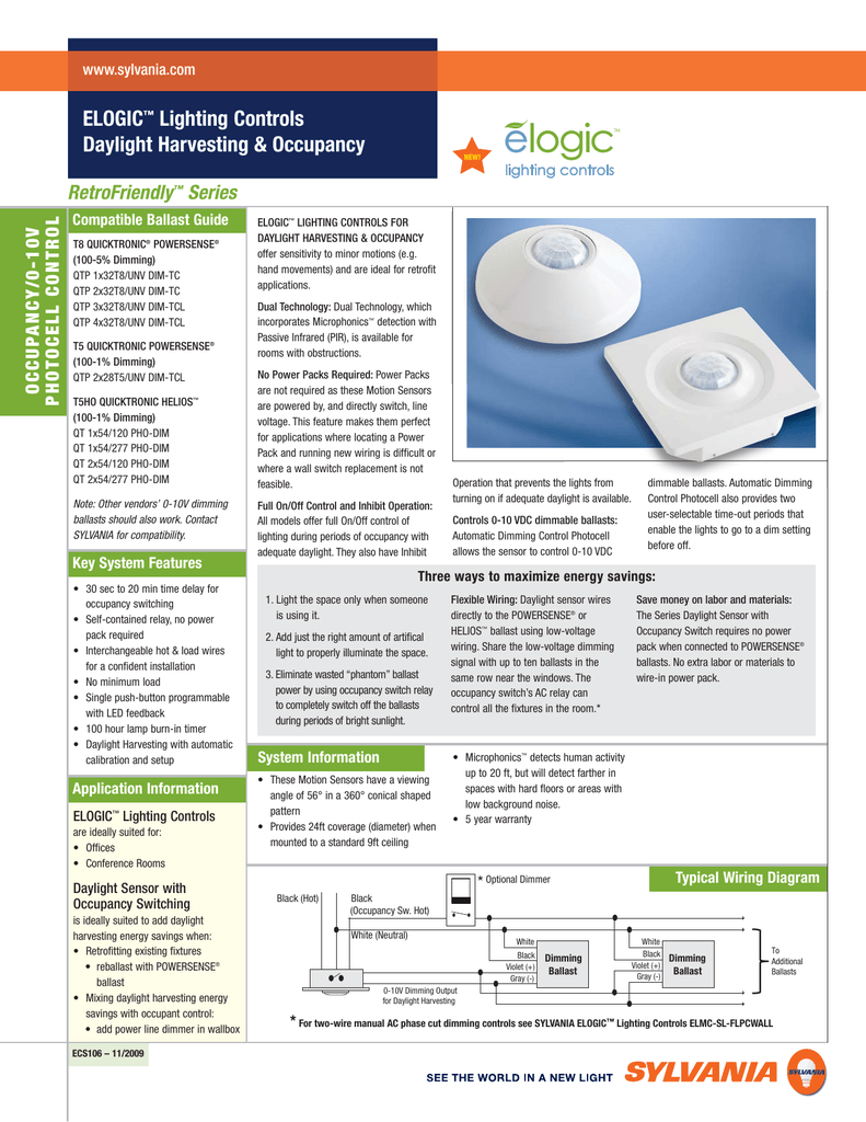 Daylight Harvesting Photocell Wiring Diagram - occupancy ... on