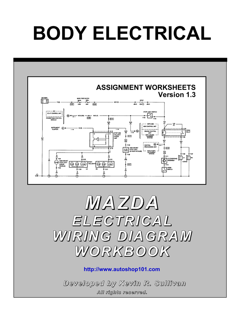 medium resolution of mazda electrical wiring diagram workbook