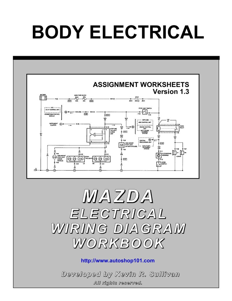 hight resolution of mazda electrical wiring diagram workbook