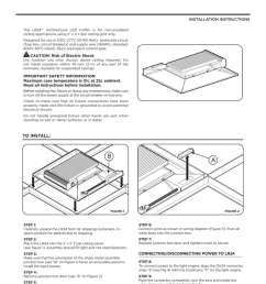 lr24 tm installation instructions the lr24tm architectural led troffer is for non insulated ceiling applications using 2 x 2 t bar ceiling grid only  [ 791 x 1024 Pixel ]