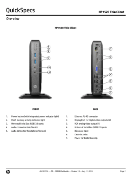 Data sheet HP Thin Client Family