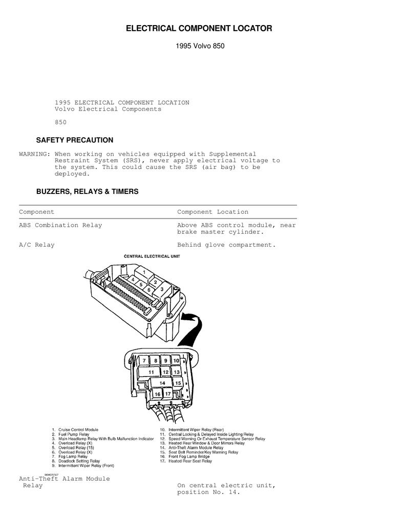 medium resolution of volvo 850 fog light wiring diagram