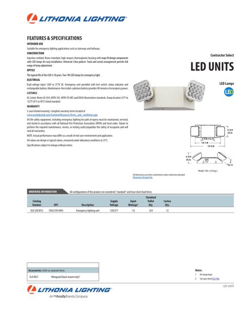 small resolution of lithonia lighting eu2 led wiring diagram wiring librarylithonia eu2 led m12 emergency led light
