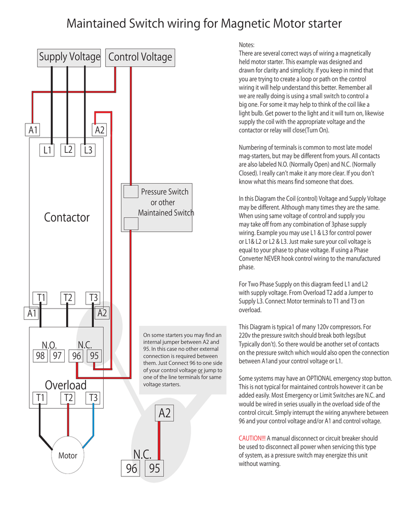 hight resolution of magnetic motor starter control wiring diagram