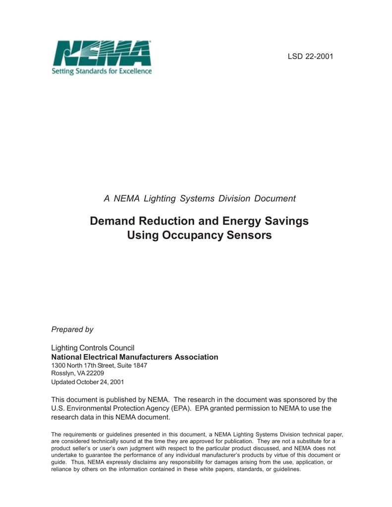 demand reduction and energy savings