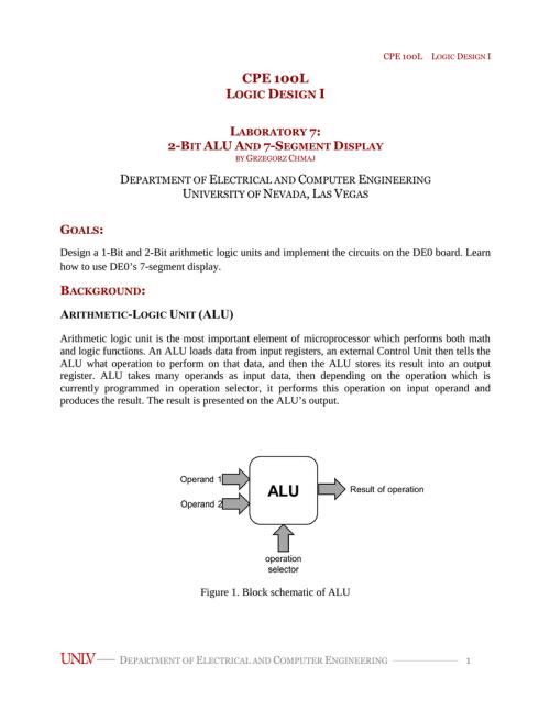 small resolution of 1 bit alu block diagram