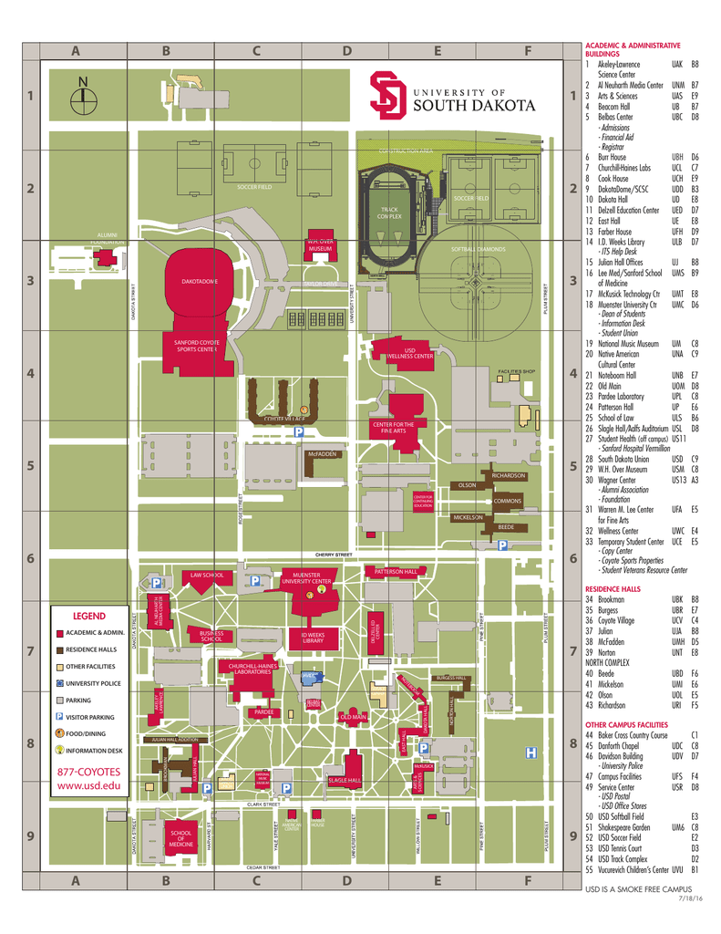 Ub South Campus Map : south, campus, Campus, University, South, Dakota