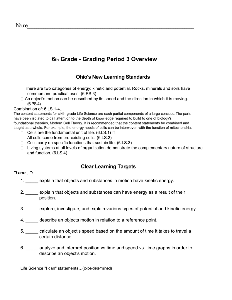 medium resolution of Science Quarter 3 Lessons