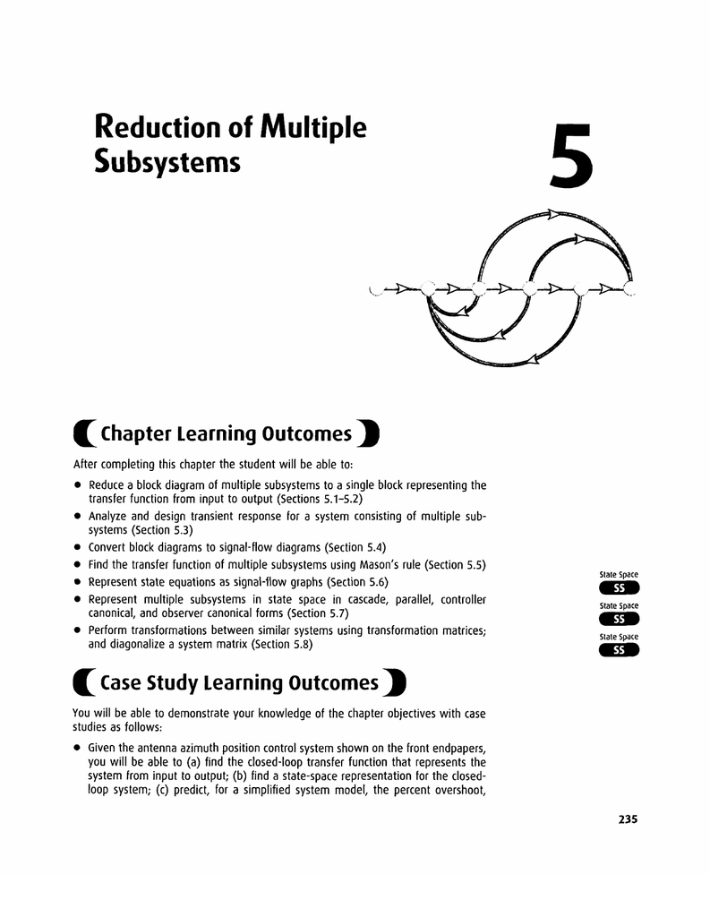 hight resolution of reduction of multiple subsystems 5 chapter learning outcomes after completing this chapter the student will be able to reduce a block diagram of