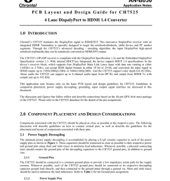 an b036 chrontel application notes pcb layout and design guide for ch7525 4 lane dispalyport to hdmi 1 4 converter 1 0 introduction chrontel s ch7525  [ 791 x 1024 Pixel ]