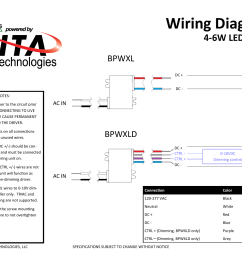 wiring diagram 4 6w led driver bpwxl dc led dc installation notes 1 turn off power to the circuit prior installing connecting to live power may cause  [ 1024 x 791 Pixel ]