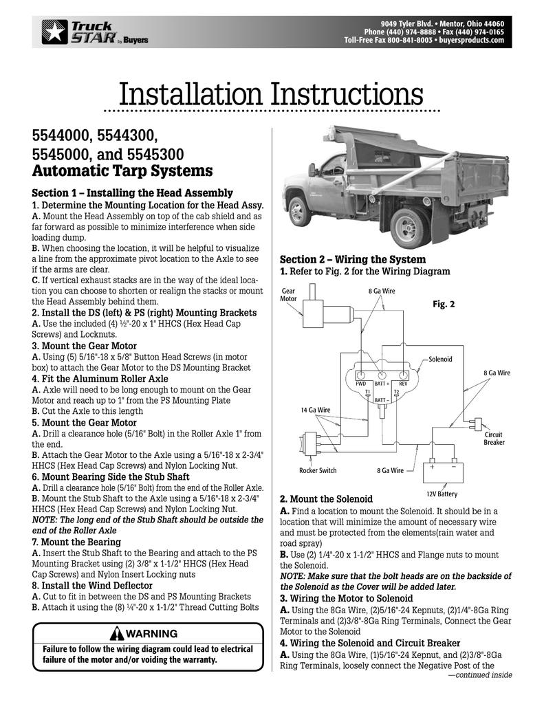 medium resolution of wiring diagram for tarp motor 5543095