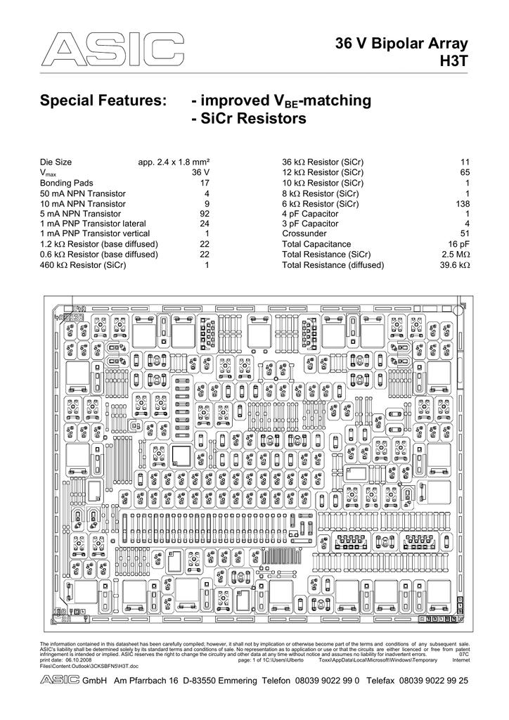 Base Diffused Resistor