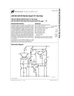 LM148 LM149 Series Quad 741 Op Amp