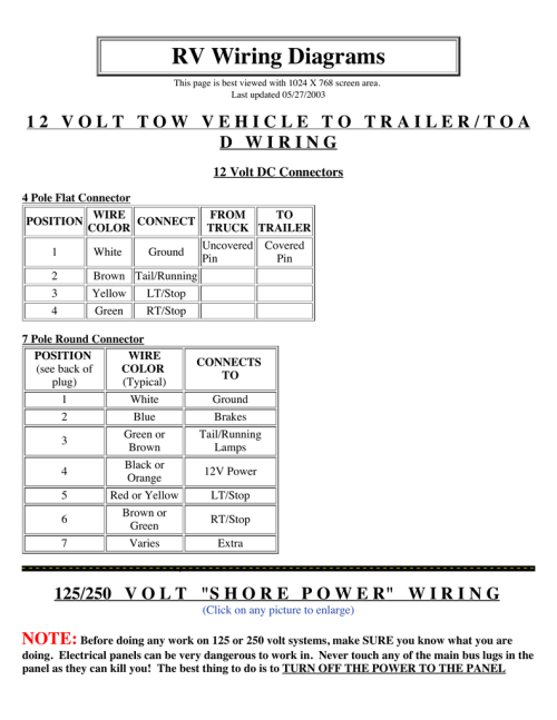 small resolution of 4 pole wiring diagram tow