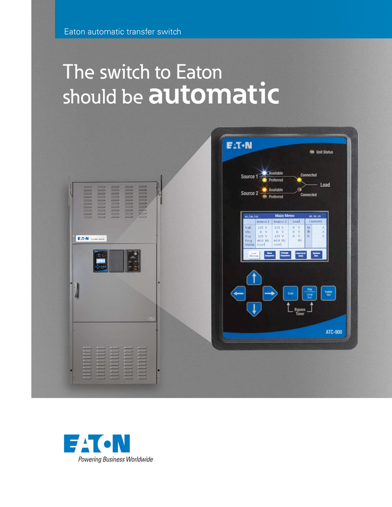 medium resolution of eaton automatic transfer switch the switch to eaton should be automatic built with experience in critical power applications there is no room for error