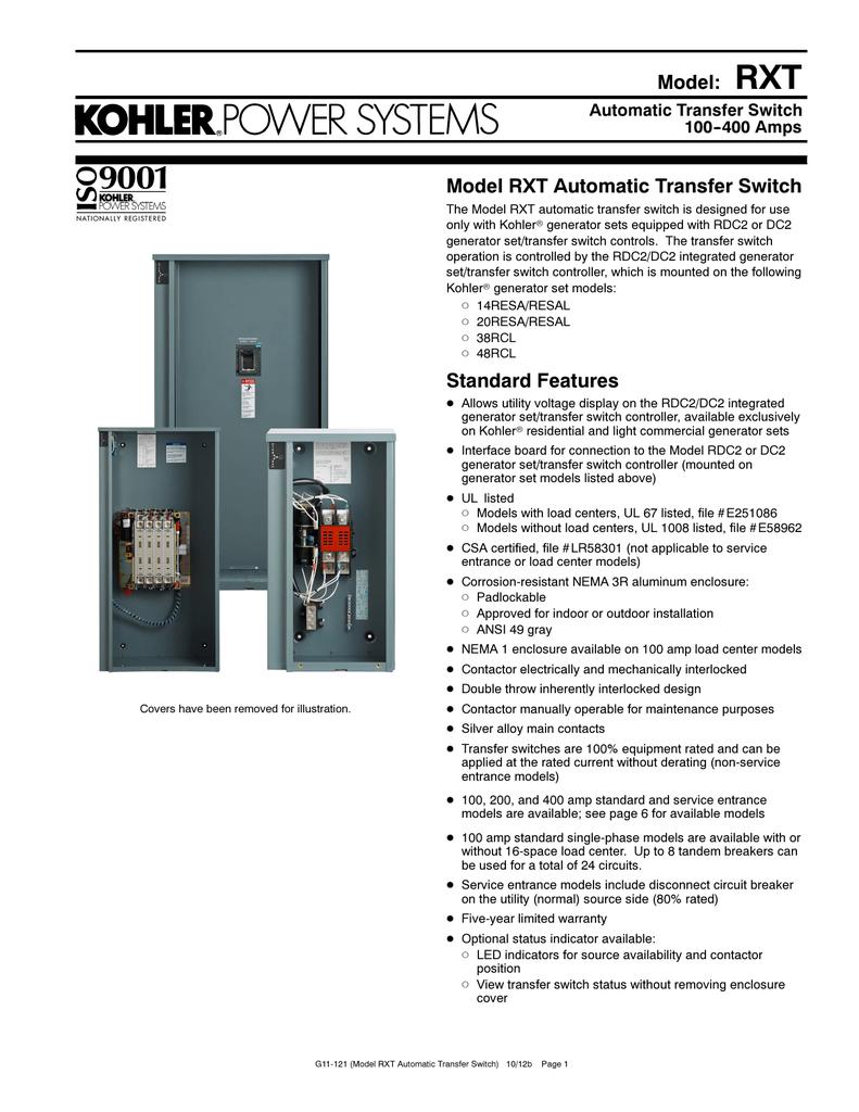 medium resolution of kohler rxt transfer switch wiring diagram 41 wiring kohler 200 amp transfer switch wiring diagram kohler generator transfer switch wiring diagram