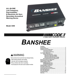 installation operation manual all in one low frequency dual amplifier electronic air horn secondary acoustical warning device model 3450 banshee  [ 791 x 1024 Pixel ]