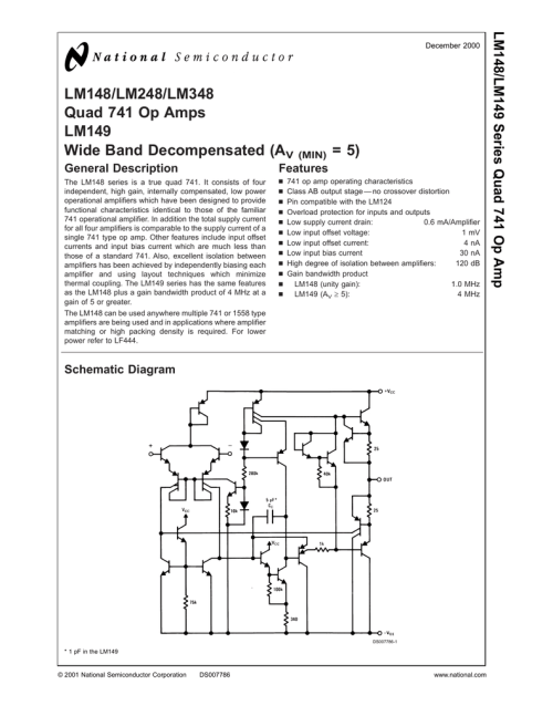 small resolution of 741 pin diagram