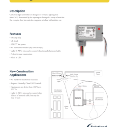 closet light controller description our closet light controllers are designed to switch a lighting load on off determined by the opening or closing of a  [ 791 x 1024 Pixel ]