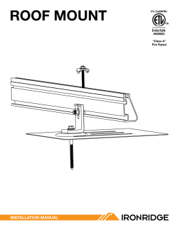 Roof Mount Install Manual