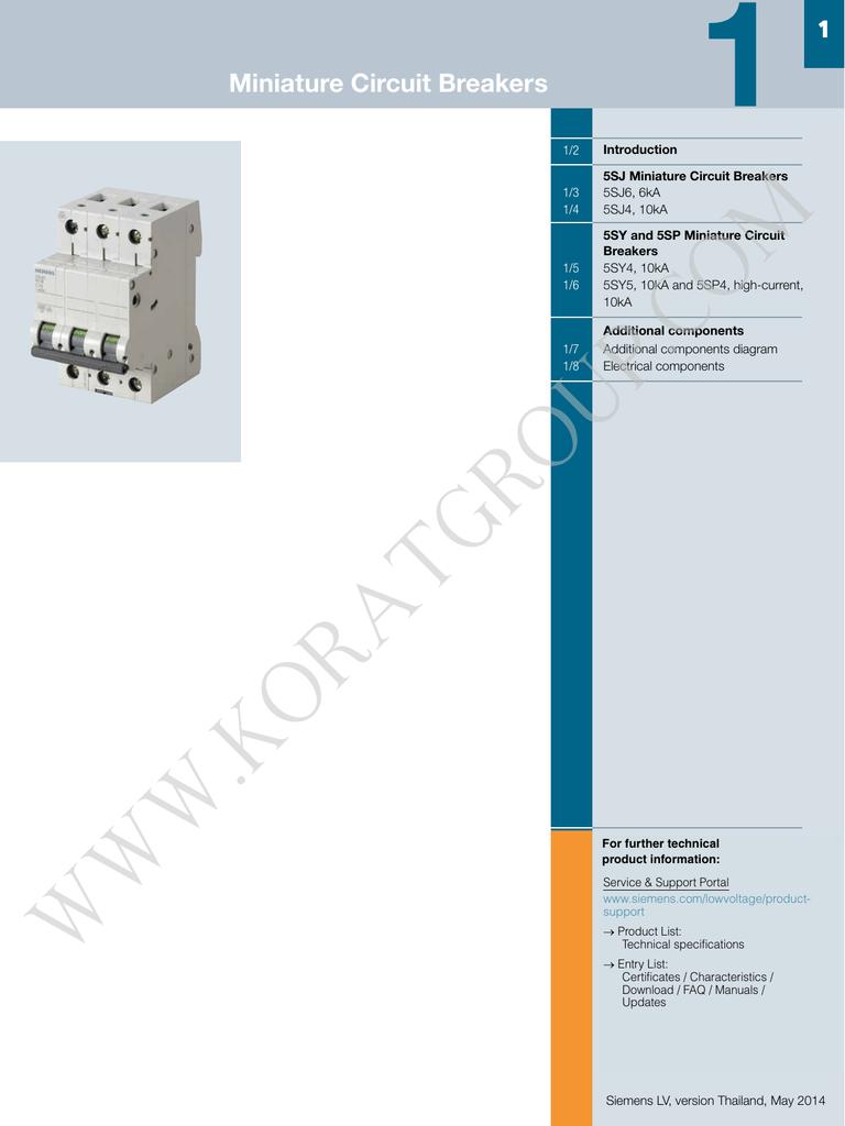 medium resolution of miniature circuit breaker wiring diagram